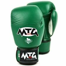 MTG Pro Boxing Gloves Green Muay Thai Leather