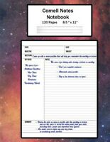 Cornell Notes Notebook: Note Taking System, For Students, Writers, Meetings, ...