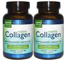 2 X Neocell Fish Marine Collagen + HA (Hyaluronic Acid) 120 capsules