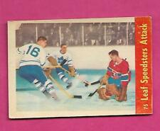 1955-56 PARKHURST # 75 CANADIENS JACQUES PLANTE FAIR CARD (INV# C4754)