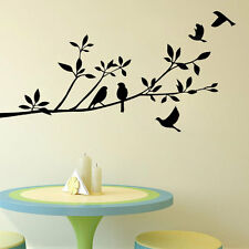 Large Removable Vinyl Art Wall Sticker Tree Branch Birds Mural Decals Home Decor