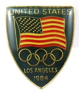 1984 Los Angeles Olympics United States NOC Olympic Team Pin Badge