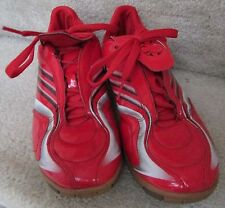 Adidas Indoor Soccer Shoes Red +f10 Size 8 #807170