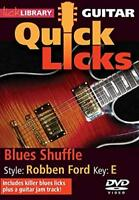 Quick Licks For Guitar Blues Shuffle Style Robben Ford Key E DVD RDR0238