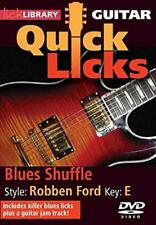 Quick Licks For Guitar Blues Shuffle Style: Robben Ford Key: E DVD