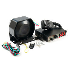 200W 8Sound Loud Car Warning Alarm Police Fire Siren Horn PA Speaker MIC System*