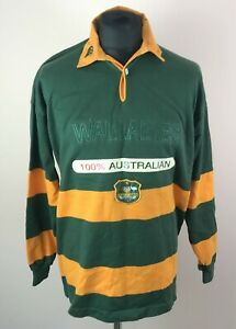 Vintage Canterbury of New Zealand WALLABIES Rugby Shirt Size XL Long Sleeve