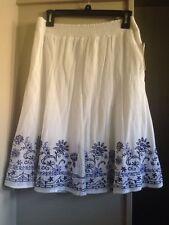 Petites Long 100% Cotton Peasant, Boho Skirts for Women