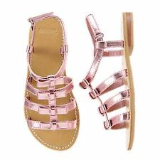 NWT Gymboree Girls Island Cruise Pink Metallic Bow Strap Sandals Size 11