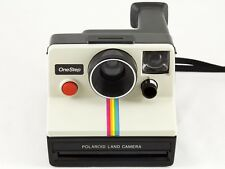 Vintage Polaroid SX-70 OneStep White Rainbow Stripe Land Camera TESTED & WORKING