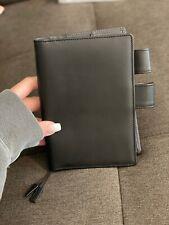 Hobonichi Techo A6 Black Leather Ts Basic Cover Planner Binder
