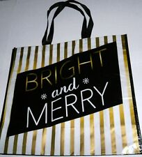 """REUSABLE TOTE BAG 19.5"""" X 17 3/4"""" X 7"""" BRIGHT AND MERRY"""