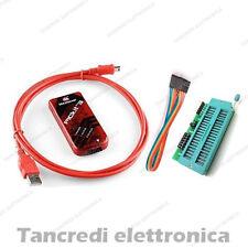 PROGRAMMATORE PICKIT3 + ADATTATORE + USB Programmer Microchip PIC + Adapter ICD2