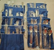 VTG HEIRLOOM STERLING DAMASK ROSE 5 PC PLACE SETTING NEW IN BAG (2 SETS AVAIL)