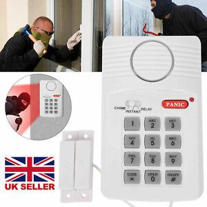 Wireless Security Keypad Alarm System Home Office Door Shed Garage Caravan UK
