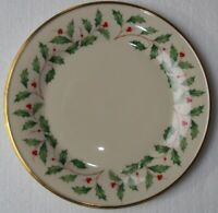 LENOX   HOLIDAY    Dinner Plate   10 3/4 inches    GOLD TRIM    MADE IN USA