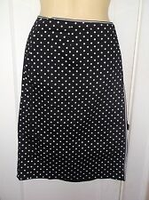 Womens Wrap Style Skirt by Wildlife New York Size 12 Black with white polka dots
