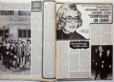 BETTE DAVIS => 2 pages 1977 Vintage  ITALIAN CLIPPING