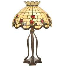 Meyda Lighting 31.5'H Roseborder Table Lamp, Beige Burgundy 59 Pink - 19138