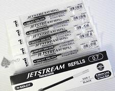 12 Uni-Ball Jetstream SXR-7 roller ball refills for SXN-157S & SXN-217 BLACK ink