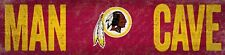 "Washington Redskins MAN CAVE Football Wood Sign - NEW 16"" x 4""  Decoration Gift"