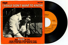 Elvis Presley USA 45 RCA 47-9960 I Really Don't Want To Know COMING SOON SLEEVE