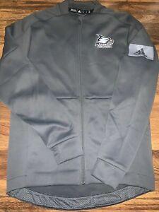 Georgia Southern Eagles NCAA Adidas Men's Climalite Grey Warm Up Jacket 4XL
