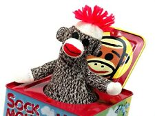 Sock Monkey Jack In The Box Musical Pop Goes The Weasel Wind Up 2008 Schylling