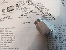 Harley Panhead Oil Tank Oil Filter Adapter Fitting  OEM# 63524-50 1940-1964