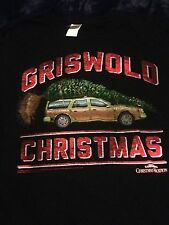 GRISWOLD CHRISTMAS T-SHIRT - Station Wagon with Tree - Black Color Medium Size