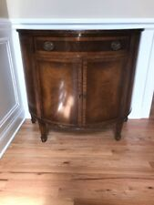 Antique Half Moon Foyer Table Console Wood Accent Hall Round Furniture