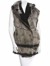 SPECTACULAR NWT $4,200 SOLD OUT DONNA KARAN LONG HAIR SHEARLING FUR VEST