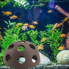 1* Aquarium Rock Cave Ceramic Shelter Hiding Spots Fish Tank Ornament Dec Hood
