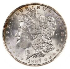 1887/6 Morgan $1 PCGS Certified MS63 Overdate Error US Mint Silver Dollar Coin