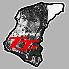 TT ISLE OF MAN ILE DE MAN JOE BIKER 9cmX9cm AUTOCOLLANT STICKER MOTO GP IA089
