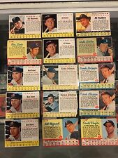 1961 1962 1963 POST CEREAL 86 BASEBALL CARD LOT KALINE KOUFAX BROOKS DUKE GOOD
