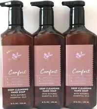 3 BATH & BODY WORKS VANILLA PATCHOULI COMFORT DEEP CLEANSING HAND SOAP 8 OZ