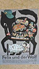 (D77) DDR-Plakat FELIX UND DER WOLF - DEFA Grafik: Westphal 1988
