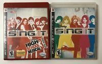 PlayStation 3PS3 Game Lot Of 2- Disney SING IT High School Musical 3
