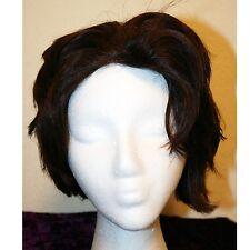 100% Human Hair Wig, Made in Korea, Reddish Brown, Medium Short Length, Vintage?