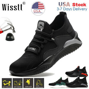 Men's Sports Lace up Wide D Work Boots Steel Toe Cap Sneaker Safety Shoes Hiking