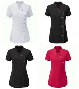 Women Beauty Tunics Hairdresser SPA Nail Salon Therapist Massaging Work Uniforms