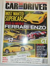 Car And Driver Magazine Ferrari Enzo & Saleen S7 July 2003 031115R