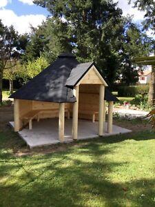 9,2m² Open cabin pergola wooden Gazebo