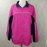 Classic Elements Plus Size 2X 20/22 Windbreaker Jacket Zip Up all weather blue