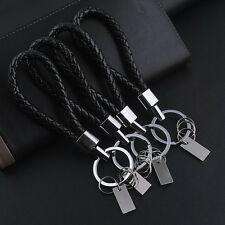 Men's Vintage Leather Key Chain Ring Keyfob Car Keyring Cool Keychain Gift 1PC