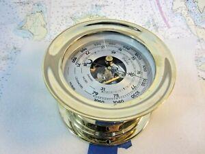 """Chelsea Clock 6"""" Ship's Bell Barometer Brass"""