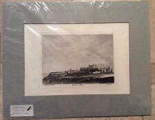 "Hand Colored 1784 Engraving ""DOVER CASTLE IN KENT"" UK Godfrey Grose UK PRINT"