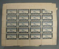RARE 20 Stamp Full Block Canada Newfoundland Private 1932 Airmail $1 Value # 1