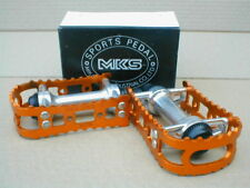 "NOS BMX MKS BM 7 GOLD PEDALS  9/16"" OLD SCHOOL NEW IN BOX"